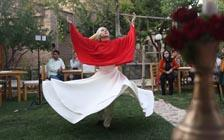 Young Afghan Women, Men Perform Sufi Dance Together